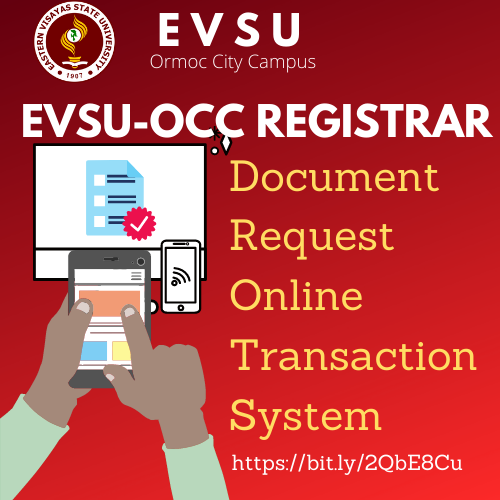 EVSU-OCC Registrar Document Request Online Transaction System